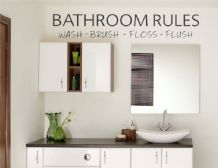 Bathroom Walls Wall Art Quote, Wall Sticker, Modern Decal Transfer